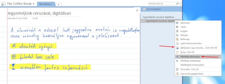 melléklap létrehozása_meeting notes